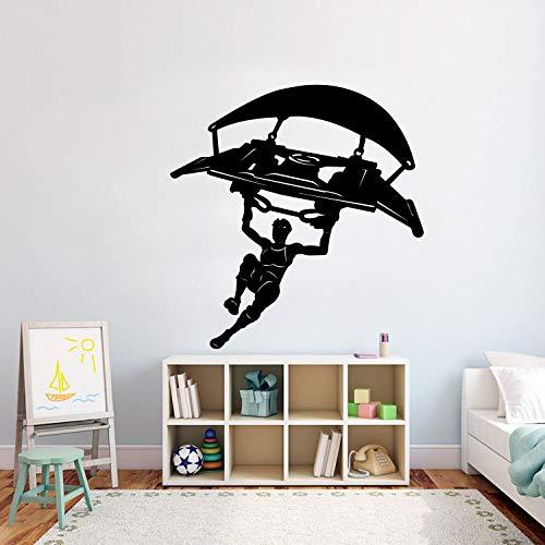 jiushivr Segelflugzeug Gamer Wandaufkleber Xbox Fort Vinyl Wandkunst Aufkleber Fluggefahr Aufkleber Wohnkultur Wandaufkleber für Jungen Schlafzimmer88x84cm