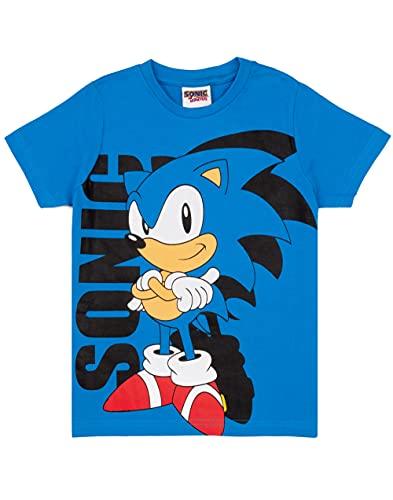 Sonic The Hedgehog T-shirt för pojkar | barn blå supersonisk karaktär topp | spel gåvor kläder varor