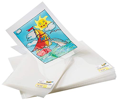 folia 450103 - Malunterlage für Fensterbilder, aus Kunststoff, DIN A3 Format, 10 Stück, zum Aufmalen und Abziehen von Window Color Farben