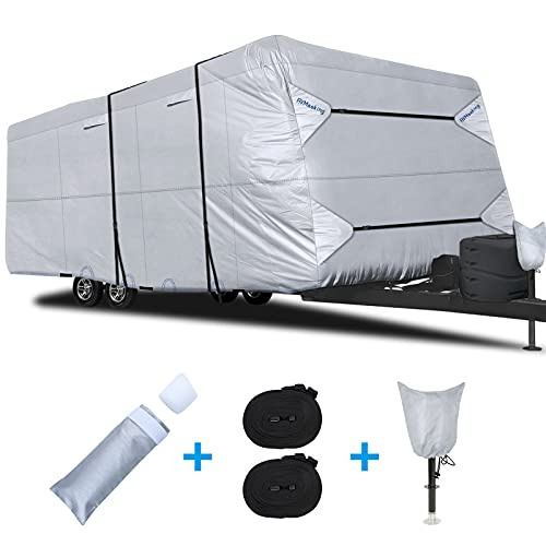 RVMasking 2021 Upgraded 150D Travel Trailer RV Cover Fits 26' 1