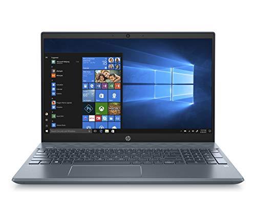 "HP Pavilion 15-cs2001ns - Ordenador portátil de 15.6"" FullHD (Intel Core i5-8265U, 12GB RAM, 256GB SSD, Nvidia GeForce MX130-2GB, Windows 10) azul neblina - Teclado QWERTY Español"