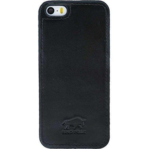 Solo Pelle iPhone SE / 5 / 5S Hülle Lederhülle Ledertasche Backcover