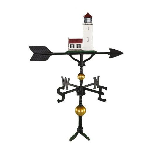 Montague Metall Produkte 32Deluxe Wetterfahne mit Farbe Cottage Leuchtturm Ornament