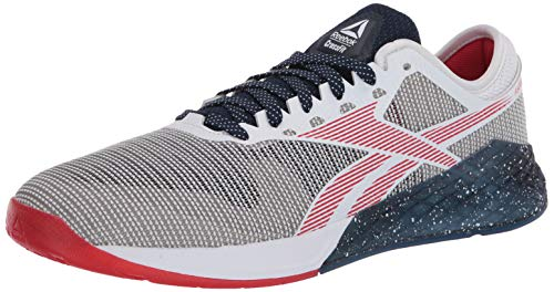 Reebok Men's Nano 9 Cross Trainer, White/Collegiate Navy/Primal Red, 6.5 M US