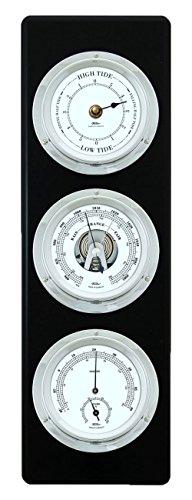 FISCHER Wetterstation Wetterwarte Tiden-Uhr Barometer Hygrometer Thermometer