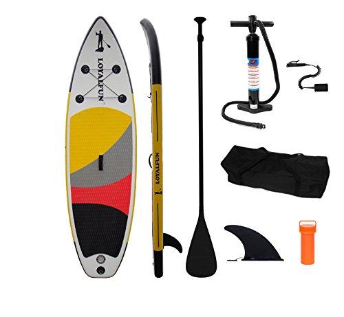 Loyal Fun SUP di alta qualità e gonfiabile Stand Up Paddle Board Set con 3Set di pagaia in alluminio, hochd Loyal Fun