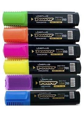 lyreco Presupuesto Rotuladores Fluorescentes Colores Variados, 6unidades