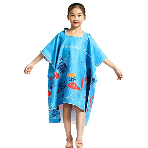 Kinderen Hooded badhanddoeken, Child Beach Sunscreen winddicht Warm omkleden badjassen Baby Wearable Handdoek Cloak voor Girl Baby Boy