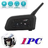 Tuo3eu V6 Motorcycle Intercom Helmet Bluetooth Headset 1200M Wireless Motorbike Interphone Connect Up to 6...
