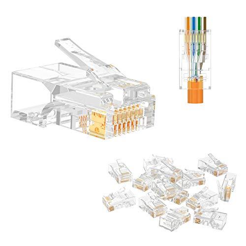 VCE Connettori RJ45 Cat5E Ethernet Plug RJ45 Passante Lan Per Cavo di Rete Cat5E Cat5 50 Pezzi