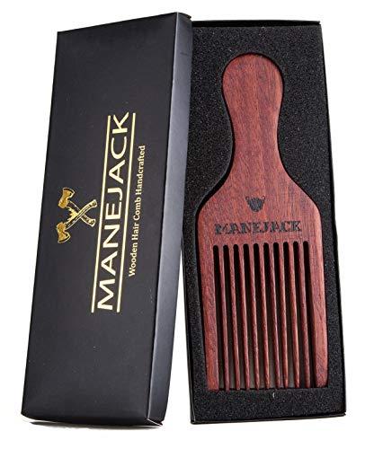 MANEJACK Beard Pick for Men- Wooden Comb Afro Hair Lift Combs