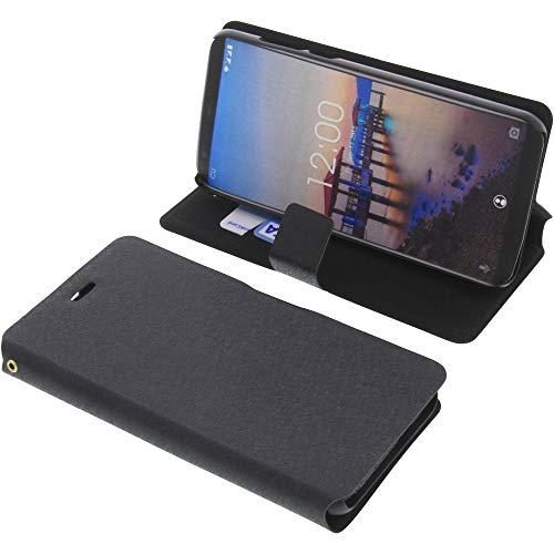 foto-kontor Tasche für Oukitel C11 / C11 PRO Book Style schwarz Kreditkarte Schutz Hülle Buch