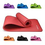 Tapis Yoga Antidérapant KG | PHYSIO (1cm), Qualité Premium Tapis de Sol Fitness pour la Salle de Sport, Pilates ou à la Maison avec Bandoulière (à l'intérieur du tapis) 183cm x 60cm x 1cm (épais)