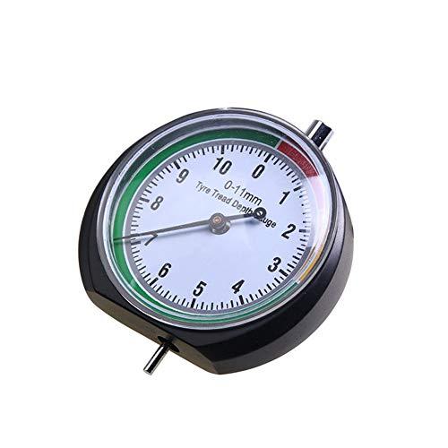Medidores de la profundidad del dibujo del neumático, calibrador de neumáticos de 0-11 mm, herramienta de medición de monitor de puntero de neumáticos de acero inoxidable para Auto motocicleta