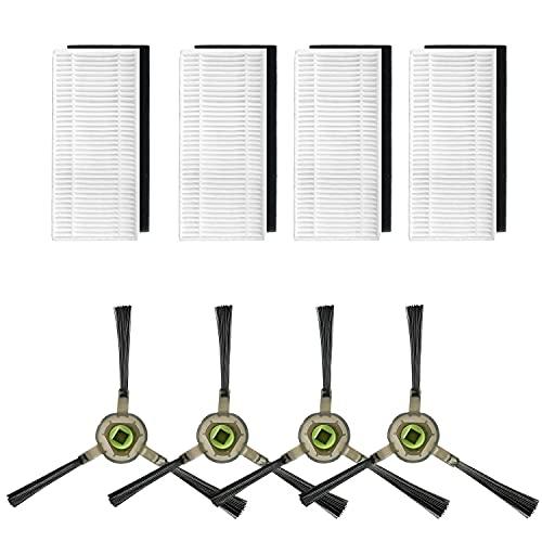 Filtro Hepa e Spazzola Laterale di ricambio per aspirapolvere OKP K7,K8, accessorio per aspirapolvere robot OKP, 8 pezzi (4 filtri HEP+4 spazzola laterale)