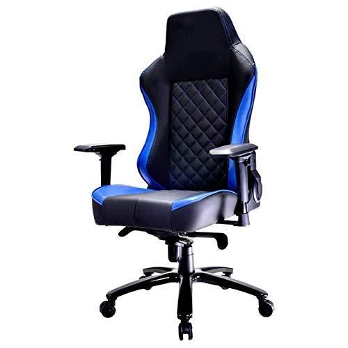HDZWW Sedie Gaming Sedie Video Game Gaming Chair Gaming Sedia può seggiovia Computer Comoda Sedia dell'ufficio Boss Sedia può ruotare for Lavoro Gaming (Colore: Blu, Dimensione: 128-136x51x55cm)