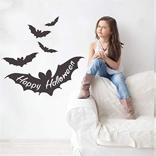 Wandtattoo Kinderzimmer Wandaufkleber Schlafzimmer Happy Halloween Zitate In Fledermausflügel Dekor Für Halloween Fliegende Fledermäuse Niedliche Aufkleber