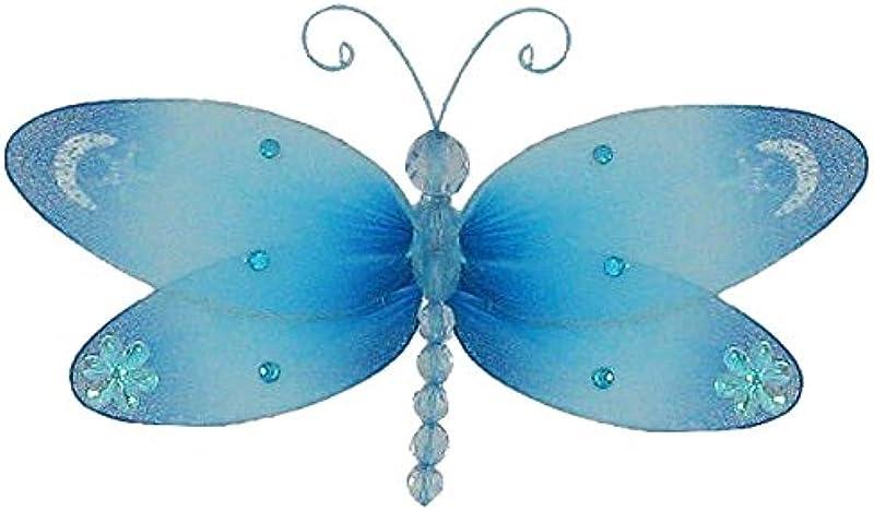 The Butterfly Grove Dakota Dragonfly 3D Hanging Mesh Nylon Decor Hawaiian Blue Small 7 X 4