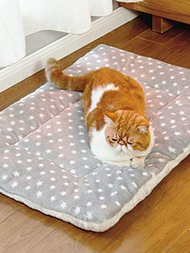 SNFHL Colchón para Mascotas Cálido Felpa Perro Gato Bebé Colchón Cómodo Cojín de Arena para Cachorros y Gatitos,XS 35x27x3cm-Grey
