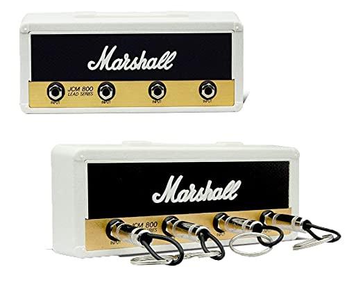 Wandschlüsselbund, Gitarren-Schlüsselanhänger, mit 4 Schlüsselringen mit Gitarrenstecker, Rockgitarren-Schlüsselbund Schlüsselhalter mit Haken zur Wandmontage