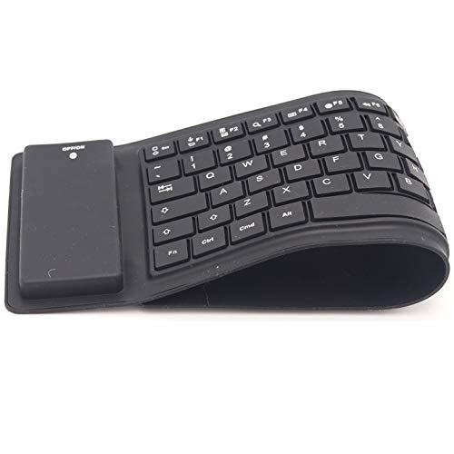 Keyergo Flexible Wireless Bluetooth Keyboard - Noiseless - Waterproof, Black