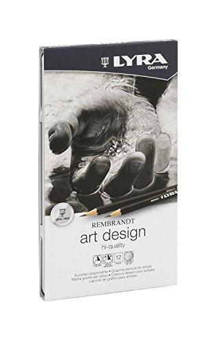 Lyra Rembrandt Art Design Sketching Pencils - Gift Tin of 12-1111120