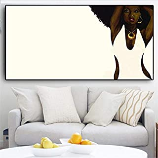 liwendi Abstract Black White African American Portrait Poster Canvas Art Scandinavian Wall Painting Living Room 40 80Cm