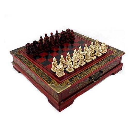 Zhice Chinesische Terrakotta-Krieger hölzerner Schachbrett-Puzzle-Zeichentrickfiguren-Geschenk (Farbe : Terracotta Warriors)