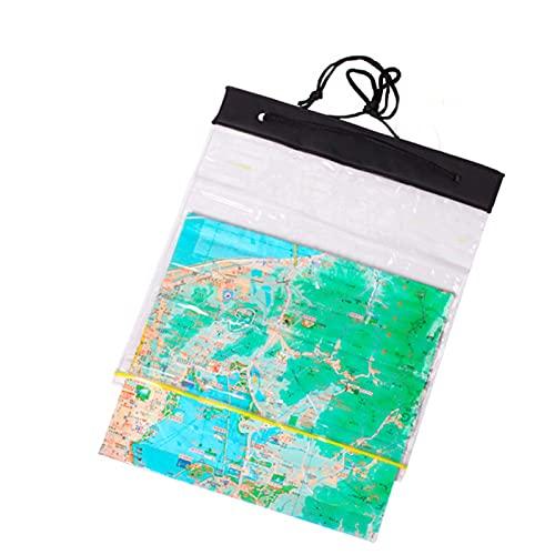 MOVKZACV Caja impermeable portátil transparente de la bolsa de los bolsos para el mapa, al aire libre que acampa a prueba de agua seco multiusos caso