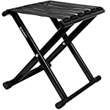Camping Stool 12.6', Heavy-Duty Folding Stool, Portable Outdoor Small Folding Chair, Hold Up to 600lbs , Camp Stool Suitable for Camping, Hiking, Fishing (S, Black)
