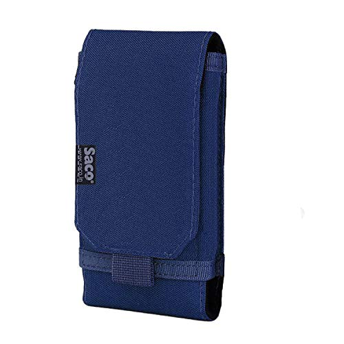 Saco Belt Waist Packs Pouch Holster Cover Case for Mobile Phone (Size L) Sports Fitness & Outdoors Running Jogging - (Blue)