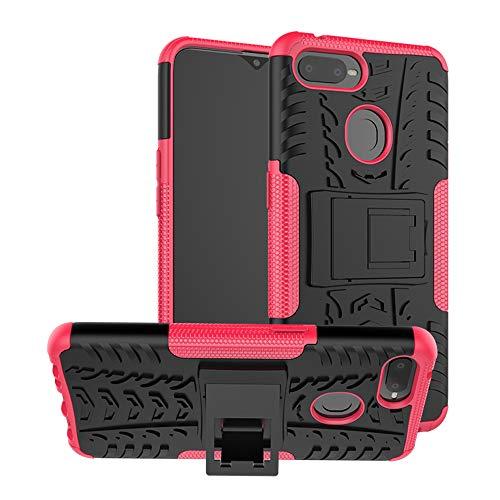 TiHen Funda OPPO F9/F9 Pro/A7x 360 Grados Protective con Pantalla de Vidrio Templado. Caso Carcasa Case Cover Skin móviles telefonía Carcasas Fundas para OPPO F9/F9 Pro/A7x - Rosa