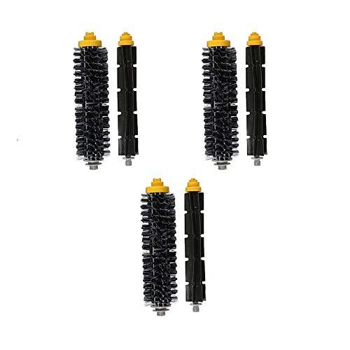 liutao Pinceles Aspiradores 3 Sets Kit de Pincel de Rodillos Principal Compatible con Irobot Roomba 600 Series 605 606 616 620 650 655 660 625 676 680 690 Robot Aspiruum Accesorios para Aspiradora