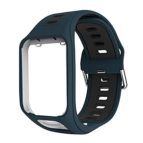 Classicase Compatible con Tomtom Spark/Spark 3 / Runner 2 / Runner 3 / Golfer 2 / Adventurer Correa de Reloj, Banda de Reemplazo Silicona Suave Sports Pulsera (Pattern 2)
