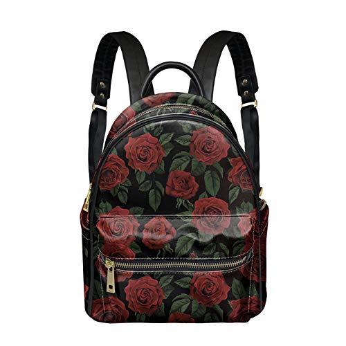 Woisttop Mochila de cuero, mochila de mujer para niñas y señoras de moda PU de cuero mochila bolsa de hombro