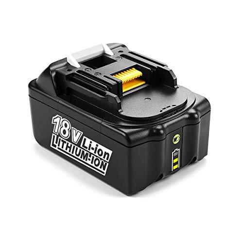 ENERGUP 18V 5Ah Li-ion Batterie de Rechange pour Makita BL1850B BL1860 BL1850 BL1840 BL1830 BL1820 BL1020B BL1815 LXT400 197280-8 avec Indicateur LED
