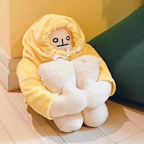 TOLUON Plush Banana Man Toy Stuffed Doll with Magnet Funny Man Doll Decompression Toy Birthday