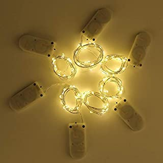 LED String - LED light string copper wire lights waterproof holiday (Warm White 1m 10 lights)