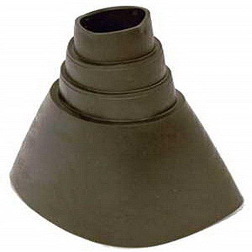 Gummimanschette/Dichtung für Dachabdeckungen; Farbe: schwarz; UV-beständig; zum sicheren Abdichten von Antennenmasten und Dachpfannen [Gummitülle, Gummi-Abdichtung; Dichtungsmanschette]