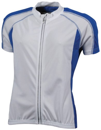 JAMES & NICHOLSON Bike T-Shirt de Maternité, Blanc (White/Royal), (Taille Fabricant: XX-Large) Femme