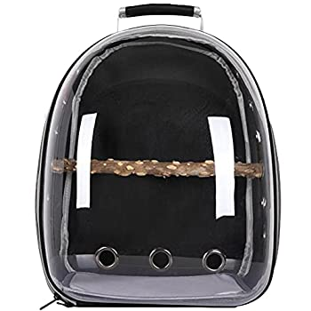 PEPENE Sac à dos de transport pour perroquet - Transparent - Respirant - 360 °