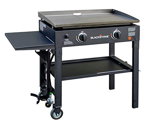 Blackstone 28 inch Outdoor Flat Top Gas Grill Griddle Station - 2-burner - Propane Fueled -...