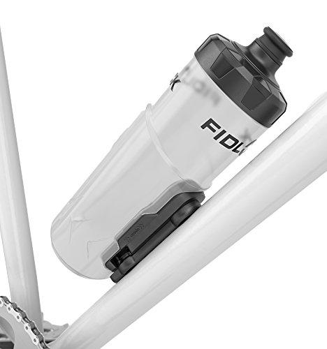 Fidlock Magnetischer Flaschenhalter mit Fahrradtrinkflasche Bottle Twist, Transparent