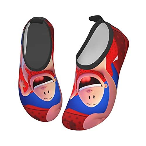 Cap_Tain Under_Pants - Zapatos de agua para niños y niñas, antideslizantes, de secado rápido, para playa, natación, caminata, Black, 25 EU