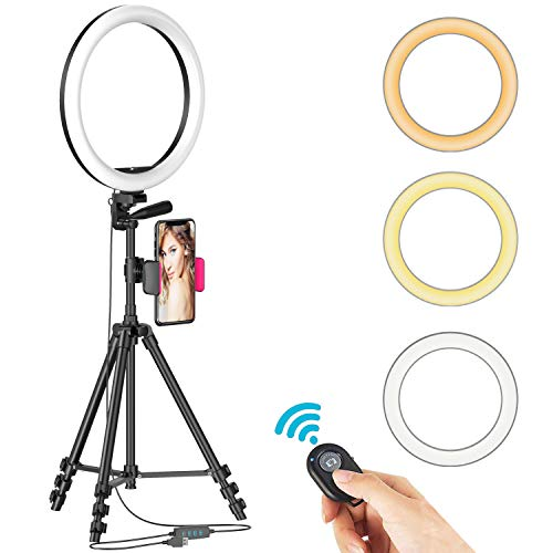12' Selfie Ring Light with Tripod Stand