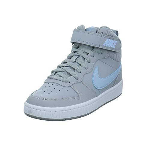 Nike Unisex-Erwachsene Court Borough Mid 2 Ep Gs Leichtathletik-Schuh, Wolf Grey/Celestine Blue/White, 40 EU