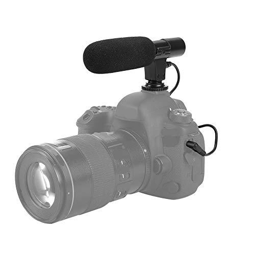 Yoidesu Micrófono de cámara, Micrófono de entrevista de Condensador portátil, Micrófono de Video Entrevista de fotografía Micrófono Mic para cámaras y videocámaras DSLR