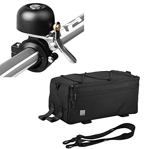 Lixada Insulated Bike Cooler Bag with Bike Bell, Trunk for Warm or Cold Items, Bicycle Rear Rack Storage Luggage, Reflective Cycling MTB Bike Pannier Bag, 8L
