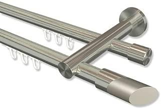 100 cm INTERDECO Gardinenstange Wei/ß aus Metall 20 mm /Ø Platon Santo