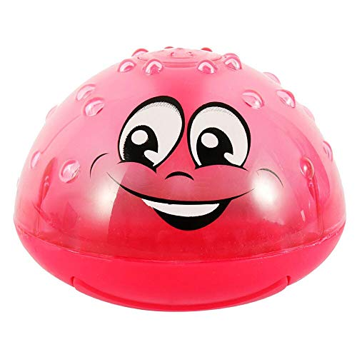 SYFO Juguete Funny Infant Bath Toys Baby Electric Induction Sprinkler Ball con música Ligera Niños Niños Play Play Ball Bañera Juguetes Niños Regalos (Color : Red Ball)